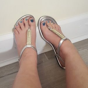 Montero Bay Club Silver Bling Sandals